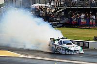 Apr. 29, 2011; Baytown, TX, USA: NHRA funny car driver Mike Neff during qualifying for the Spring Nationals at Royal Purple Raceway. Mandatory Credit: Mark J. Rebilas-