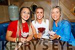 Natlia Czerska from Tralee, celebrating her birthday in the Mall Tavern on Thursday.<br /> L to r: Sian English Adams, Natlia Czerska and Sarah Gleeson.