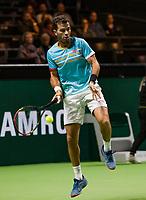 Rotterdam, The Netherlands, 14 Februari 2019, ABNAMRO World Tennis Tournament, Ahoy, <br /> Jean-Julien Rojer (NED),<br /> Photo: www.tennisimages.com/Henk Koster