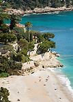 France, Provence-Alpes-Côte d'Azur, Roquebrune-Cap-Martin: Beach - Plage de Golfe Bleu | Frankreich, Provence-Alpes-Côte d'Azur, Roquebrune-Cap-Martin: Plage de Golfe Bleu