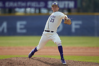 High Point Panthers pitcher Sean Duffy (23) in action against the Bryant Bulldogs at Williard Stadium on February 21, 2021 in  Winston-Salem, North Carolina. The Panthers defeated the Bulldogs 3-2. (Brian Westerholt/Four Seam Images)