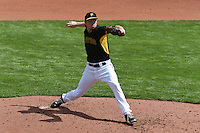 Pittsburgh Pirates pitcher Adrian Sampson (76) during the Black & Gold intrasquad game on March 2, 2015 at McKechnie Field in Bradenton, Florida.  (Mike Janes/Four Seam Images)