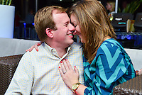 "Walker asks Kristin to marry him….she said ""Yes!"" -- at Brenner's Blue Bar; sight of their first date."