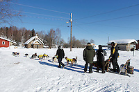 Musher Ed Slielstra checks into Grayling on Saturday during Iditarod 2011.