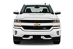 Car photography straight front view of a 2018 Chevrolet Silverado-1500 LT-Z71-Crew 4 Door Pick-up Front View