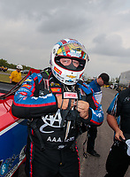 Apr 13, 2019; Baytown, TX, USA; NHRA funny car driver Robert Hight during qualifying for the Springnationals at Houston Raceway Park. Mandatory Credit: Mark J. Rebilas-USA TODAY Sports