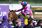 ARCADIA, CA - NOVEMBER 05: Champagne Room #6, ridden by Mario Gutierrez, after winning the Breeders' Cup 14 Hands Winery Breeders' Cup Juvenile Fillies during day two of the 2016 Breeders' Cup World Championships at Santa Anita Park on November 5, 2016 in Arcadia, California. (Photo by Douglas DeFelice/Eclipse Sportswire/Breeders Cup)