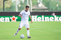 LAKE BUENA VISTA, FL - JULY 9: IIsinho #25 of the Philadelphia Union dribbles the ball during a game between New York City FC and Philadelphia Union at Wide World of Sports on July 9, 2020 in Lake Buena Vista, Florida.