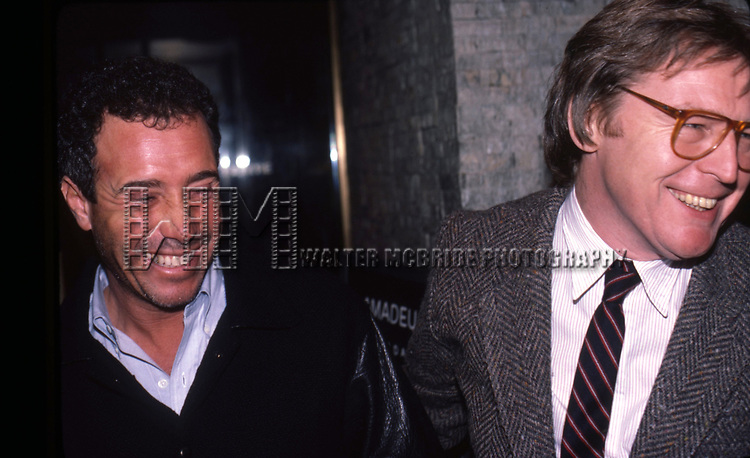 David Geffen and Director Alan Parker on January 20, 1985 in New York City.