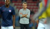 PRAGUE, Czech Republic - September 3, 2014: USA's coach Jurgen Klinsmann during the international friendly match between the Czech Republic and the USA at Generali Arena.