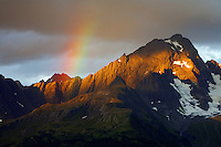 Rainbow over Mt. Alice, Chugach National Forest, Alaska.