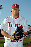 Feb 20, 2009; Clearwater, FL, USA; The Philadelphia Phillies pitcher Mike Zagurski (59) during photoday at Bright House Field. Mandatory Credit: Tomasso De Rosa/ Four Seam Images