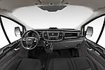 Stock photo of straight dashboard view of 2021 Ford Transit-Custom Trend 4 Door Cargo Van Dashboard