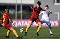 Martina Piemonte of AS Roma and Clarissa Romanzi of Roma CF compete for the ball during the Women Italy cup round of 8 second leg match between AS Roma and Roma Calcio Femminile at stadio delle tre fontane, Roma, February 20, 2019 <br /> Foto Andrea Staccioli / Insidefoto