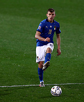 Italy's Nicolo' Barella in action during the UEFA Nations League football match between Italy and Netherlands at Bergamo's Atleti Azzurri d'Italia stadium, October 14, 2020.<br /> UPDATE IMAGES PRESS/Isabella Bonotto