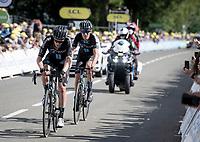 crossing the finish line<br /> <br /> Stage 2 from Perros-Guirec to Mûr-de-Bretagne, Guerlédan (184km)<br /> 108th Tour de France 2021 (2.UWT)<br /> <br /> ©kramon