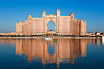 United Arab Emirates, Dubai: Front of  Atlantis the Palm Jumeirah Hotel from across the palm