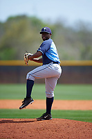Tampa Bay Rays Matt LeVert (91) during a minor league Spring Training game against the Boston Red Sox on March 23, 2016 at Charlotte Sports Park in Port Charlotte, Florida.  (Mike Janes/Four Seam Images)