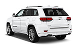 Car pictures of rear three quarter view of 2017 JEEP Grand-Cherokee Summit 5 Door SUV Angular Rear