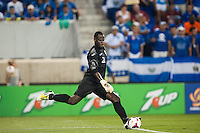 Trinidad and Tobago goalkeeper Jan Michael Williams (21) during a CONCACAF Gold Cup group B match at Red Bull Arena in Harrison, NJ, on July 8, 2013.