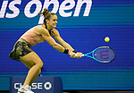 September  9, 2021:   Maria Sakkari (GRE) loses to Emma Raducanu (GBR), 6-1, 6-4 at the US Open being played at Billy Jean King National Tennis Center in Flushing, Queens, New York, {USA} ©Jo Becktold/Tennisclix/CSM