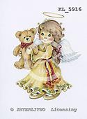 Interlitho, Theresa, CHRISTMAS CHILDREN, paintings, angel, bear, KL5916,#xk# stickers stickers