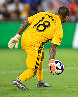 Orlando, FL - Wednesday July 31, 2019:  Nick Rimando #18 during an Major League Soccer (MLS) All-Star match between the MLS All-Stars and Atletico Madrid at Exploria Stadium.