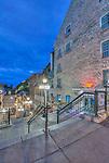 Canada, Quebec, Quebec City, Old Port Dawn