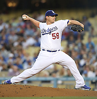 05/09/12 Los Angeles, CA: Los Angeles Dodgers starting pitcher Chad Billingsley #58 during an MLB game played between the San Francisco Giants and Los Angeles Dodgers at Dodger Stadium