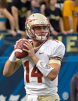 Florida State quarterback Jacob Coker. Florida State defeated Pitt 41-13 at Heinz Field on September 2, 2013.