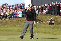 Sunday 31st May 2015; Søren Kjeldsen, Denmark, sinks his put on the 18th to secure a play off<br /> <br /> Dubai Duty Free Irish Open Golf Championship 2015, Round 4 County Down Golf Club, Co. Down. Picture credit: John Dickson / DICKSONDIGITAL