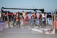 Ceylin Del Carmen Alvarado (NED) and Inge Van der Heijden (NED)<br /> <br /> UCI 2019 Cyclocross World Championships<br /> Bogense / Denmark<br /> <br /> ©kramon