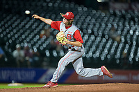 North Carolina State Wolfpack relief pitcher Joe O'Donnell (41) delivers a pitch to the plate against the North Carolina Tar Heels in Game Twelve of the 2017 ACC Baseball Championship at Louisville Slugger Field on May 26, 2017 in Louisville, Kentucky.  The Tar Heels defeated the Wolfpack 12-4 to advance to the semi-finals.  (Brian Westerholt/Four Seam Images)