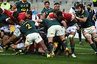 Ken Owens - British & Irish Lions hooker crashes over line for a first half try.<br /> British & Irish Lions v South Africa,  3rd Test, Cape Town Stadium, Cape Town, South Africa,  Satutrday 7th August 2021. <br /> Please credit: FOTOSPORT/DAVID GIBSON
