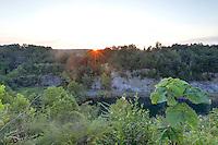 Sunset over the slate quarry in Buckingham County, VA. Photo/Andrew Shurtleff