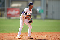 Jordan McCants (23) during the WWBA World Championship at Terry Park on October 8, 2020 in Fort Myers, Florida.  Jordan McCants, a resident of Cantonment, Florida who attends Catholic High School, is committed to Mississippi State.  (Mike Janes/Four Seam Images)