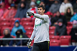 Goalkeeper Damian Emiliano Martinez of Getafe CF gestures during the La Liga 2017-18 match between Atletico de Madrid and Getafe CF at Wanda Metropolitano on January 06 2018 in Madrid, Spain. Photo by Diego Gonzalez / Power Sport Images