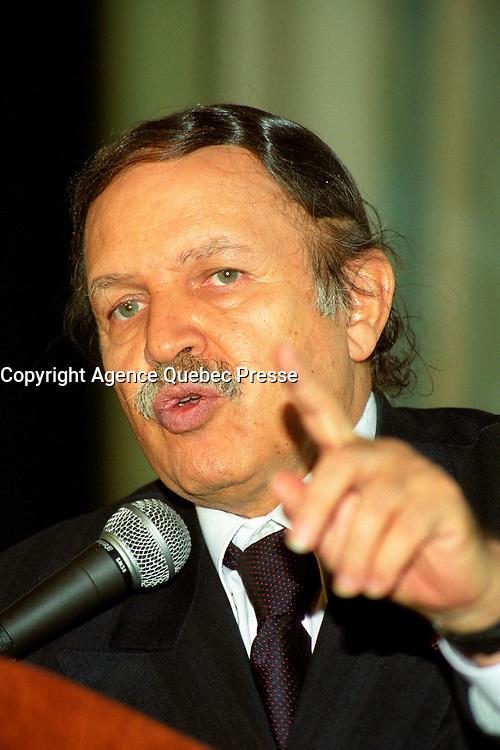 - Abdelaziz Bouteflika, Algeria President