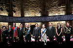Margot Leicester, Tom Robertson, Oliver Chris, Miles Richardson, Tim Pigott-Smith, Adam James, Lydia Wilson, Anthony Calf, Sally Scott and Richard Goulding during the Broadway Opening Night performance curtain call bows for 'King Charles III' at the Music Box Theatre on November 1, 2015 in New York City.