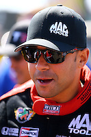 Jul. 27, 2014; Sonoma, CA, USA; NHRA top fuel driver J.R. Todd during the Sonoma Nationals at Sonoma Raceway. Mandatory Credit: Mark J. Rebilas-