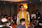 Japanese comedian Pikotaro (Piko Taro) attends a press conference at the Foreign Correspondents' Club of Japan on October 28, 2016, Tokyo, Japan. Pikotaro (real name Kazuhito Kosaka and also known by his stage name Daimaou Kosaka) received a certificate from Guinness World Record for his song ''PPAP'' for being the shortest song ever to enter the Billboard Hot 100. With over 130 million YouTube views, the song has inspired countless imitators uploading their original versions. Celebrities like the Canadian pop star Justin Bieber helped promote the song by sharing PPAP as his favorite video on the internet via his Twitter account. (Photo by Rodrigo Reyes Marin/AFLO)
