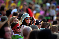 Fans in the grandstand during day two of the 2020 HSBC World Sevens Series Hamilton at FMG Stadium in Hamilton, New Zealand on Sunday, 26 January 2020. Photo: Dave Lintott / lintottphoto.co.nz