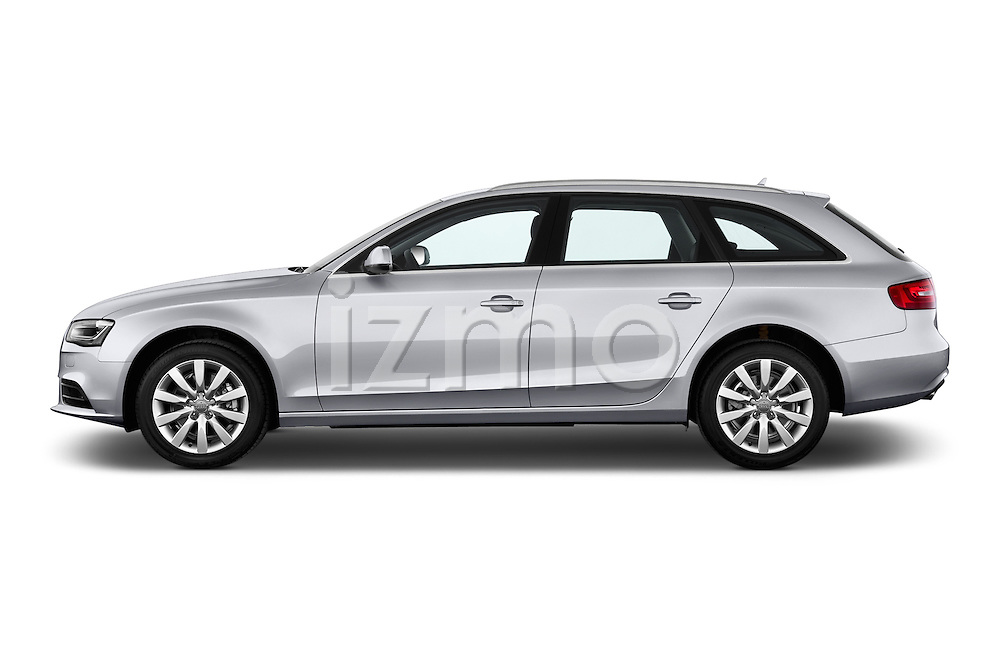 Driver side profile view of a 2014 Audi A4 AMBITION LUXE 5 Door Wagon 2WD