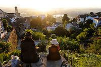 MADAGASCAR city Antananarivo , city view from royal palace complex to lake Lac Anosy / MADAGASKAR Hauptstadt Antananarivo, Blick vom koeniglichen Palast auf die Stadt und den See Lac Anosy
