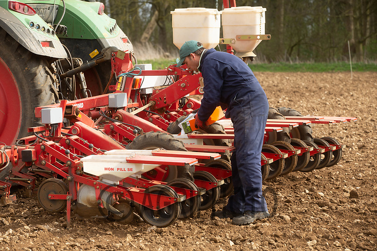 24-3-2021 Drilling sugar beet on the Lincolnshire heath<br /> ©Tim Scrivener Photographer 07850 303986<br />      ....Covering Agriculture In The UK....