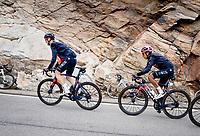Maglia Rosa / Pink Jersey / GC Leader Egan Bernal (COL/Ineos Grenadiers) up the Passo San Bernardino (2065m/SUI)<br /> <br /> 104th Giro d'Italia 2021 (2.UWT)<br /> Stage 20 (through Switzerland) from Verbania to Valle Spluga-Alpe Motta (164km)<br /> <br /> ©kramon