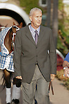 Asst. to Jerry Hollendorfer, Dan Ward walking into the paddock for the Real Good Deal Stakes at Del Mar Race Course in Del Mar, California on August 3, 2012.