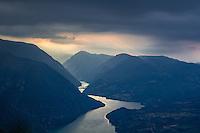 View from Banjska stena (1062 m) Drina River and Republika Srpska.