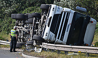 2019 07 16 A tanker overturned near the entrance to Tata Steel Works in Port Talbot, South Wales, UK