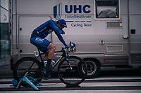 Carlos Eduardo Alzate  (COL/UnitedHealthcare) warming up pre-race<br /> <br /> 106th Scheldeprijs 2018 (1.HC)<br /> 1 Day Race: Terneuzen (NED) - Schoten (BEL)(200km)